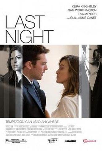 Last Night (2010 film) - Image: Last Night (2010 film) poster