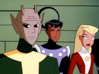 Reep Daggle - Chameleon Boy as seen on Superman: TAS.