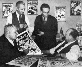 William Moulton Marston - (L to R) Marston, H. G. Peter, Sheldon Mayer and Max Gaines in