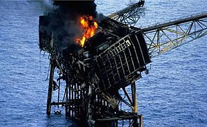 Piper Alpha - The burnt remains of Module A