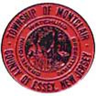 Israel Crane - Montclair's crest, featuring Cranetown as one of three historical names.