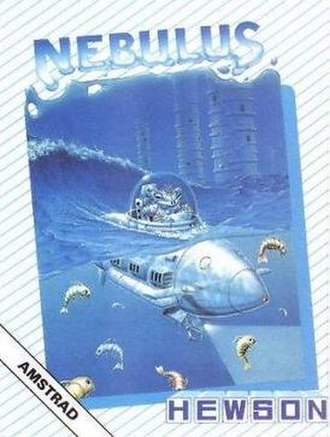 Nebulus (video game) - Cover art of Amstrad CPC version