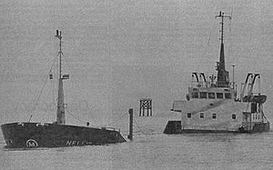 Attacks on shipping in Lough Foyle (1981–82) - The coaster Nellie M after the bombing