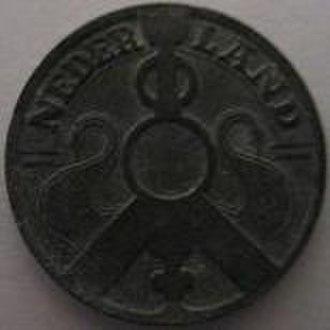2½ cents (World War II Dutch coin) - Image: Netherlands 2 1 2 cents 1941 obverse