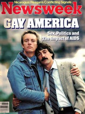 Bobbi Campbell - Bobbi Campbell (left), with his lover Bobby Hilliard, on the cover of Newsweek, August 8, 1983