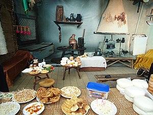 Circassian cuisine - Traditional Circassian house and cuisine