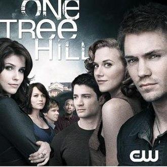 "One Tree Hill (season 5) - L-R: Brooke (Bush), Haley (Galeotti), ""Mouth"" (Norris), ""Skills"" (Tanner), Nathan (Lafferty), Peyton (Burton) and Lucas (Murray)."