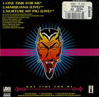 One Time for Me - back cover