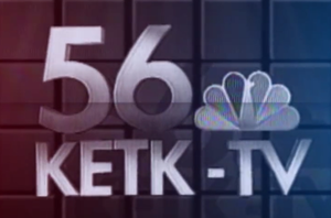 KETK-TV - Original logo used by KETK, from 1987.  This is from the opening credits of the station's newscast.  It was also used during KETK's station ID's between programs.  The logo was used for about a year, until adjusted slightly for a subsequent image campaign.
