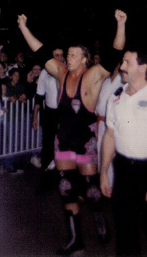 Owen Hart - Hart making his entrance to the ring