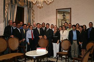 Kenneth McClintock -  Kenneth D. McClintock and his staffers at the Puerto Rico State Department Building in San Juan.