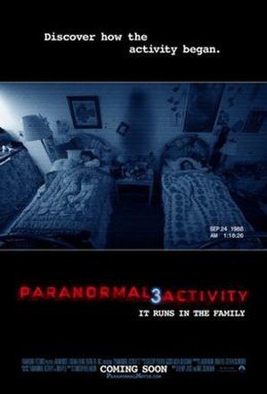 Paranormal Activity 3 - Theatrical release poster