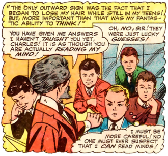 Professor X - A young Charles Xavier. Story by Stan Lee. Art by Jack Kirby, Alex Toth, and Vincent Colletta.