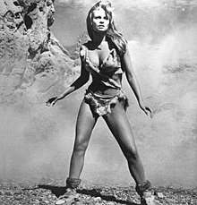 Welch in the deer-skin bikini from the film 1000 B.C.