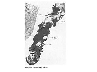 1962 Pacific typhoon season - Ruth, Sarah, Thelma and Vera on August 23