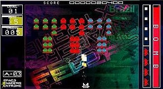 Space Invaders Extreme - A screenshot from the PSP version.