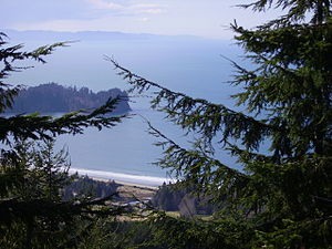 Striped Peak - View of Crescent Bay from near summit
