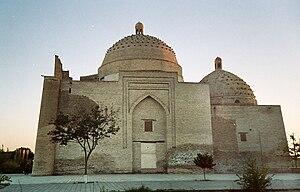 Saif ed-Din Bokharzi & Bayan-Quli Khan Mausoleums - Two domes of Saif ed-Din Boharsi Mausoleum organize building's side-view.