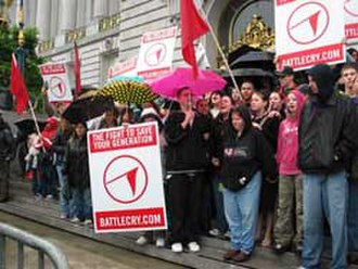 """Battle Cry Campaign - """"Battle Cry"""" participants on the steps of San Francisco City Hall, March 24, 2006."""