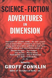<i>Science-Fiction Adventures in Dimension</i> book by Groff Conklin