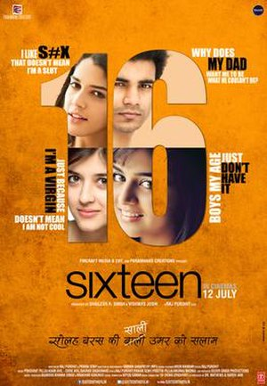 Sixteen (2013 Indian film) - Theatrical release poster
