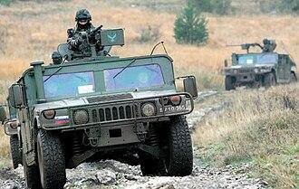 Slovenian Ground Force - Slovenian HMMWV.