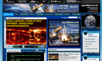 Space.com - Image: Space.com as of 2006 10 19