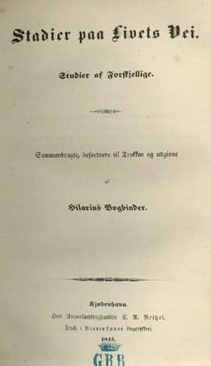 Stages on Life's Way - First edition, titlepage.