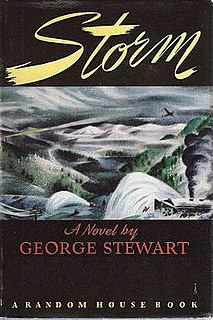 <i>Storm</i> (novel) novel by George Rippey Stewart