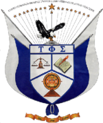 The official crest of Tau Phi Sigma