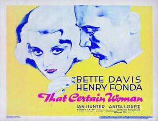 <i>That Certain Woman</i> 1937 film by Edmund Goulding