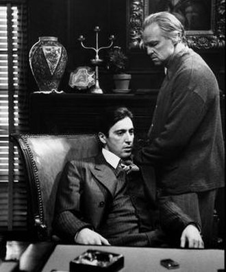 The Godfather - Image: The Godfather Al Pacino Marlon Brando