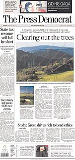 <i>The Press Democrat</i> newspaper based in Sonoma County, California