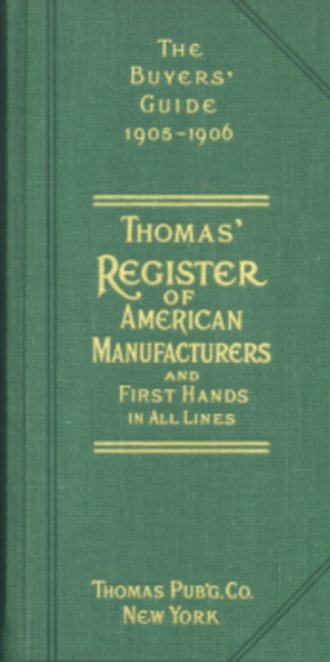 Thomas Register - 1905 Thomas' Register of American Manufacturers