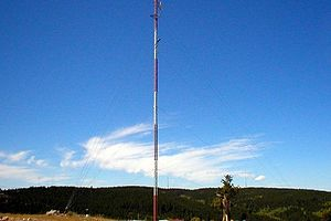 Casper Mountain - Casper Mountain carries a majority of the area's radio communication towers.