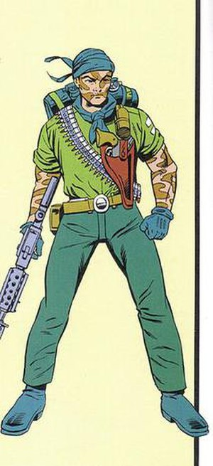 Tunnel Rat (G.I. Joe) - Illustration of Tunnel Rat from G.I. Joe: Order of Battle. Art by Herb Trimpe.