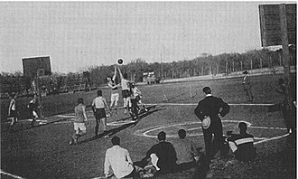 Clark Field (1887) - The outdoor basketball court at the southwest corner of Clark Field, site of UT basketball home games from 1906 to 1916