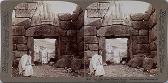 Lion Gate - Stereoscopic image of the gate from 1897.