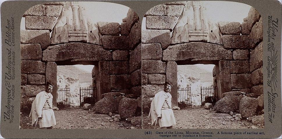 Underwood & Underwood - The Lion Gate at Mycenae - Google Art Project