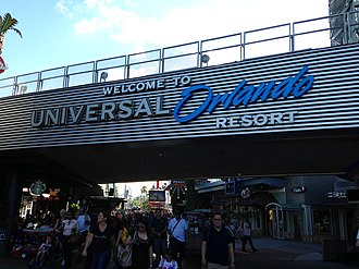 Universal Orlando - Entrance sign to CityWalk from the parking garage