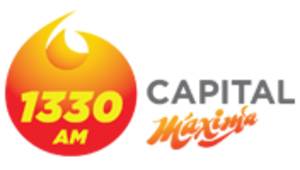 "XHEV-FM - ""1330 AM Capital Máxima"" logo used in the mid-2010s"