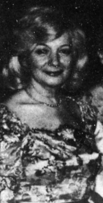 Zahava Burack - Zahava Burack at a 1986 ceremony in honor of the Macugowski family.
