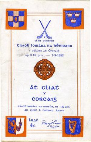 1952 All-Ireland Senior Hurling Championship Final - Image: 1952 All Ireland Senior Hurling Championship Final programme
