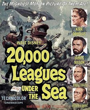 20,000 Leagues Under the Sea (1954 film) - Theatrical release poster