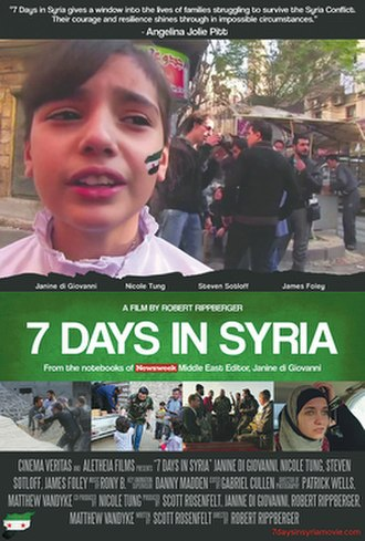 7 Days in Syria - Theatrical release poster