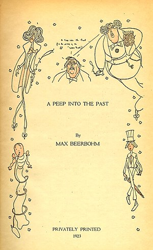 A Peep into the Past - Title page of A Peep into the Past (1923)