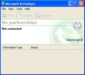 ActiveSync 4.5 on Windows XP