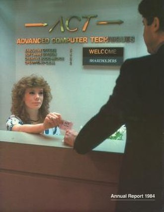 Advanced Computer Techniques - Reception center at the New York City 32nd Street offices of ACT in the 1980s