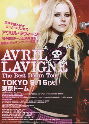 The Best Damn World Tour - Image: Avril tbdtposter