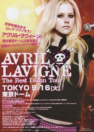 The Best Damn World Tour - Image: Avril tbdtposter
